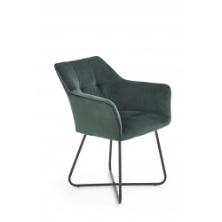 K377 krzesło ciemny zielony - Halmar