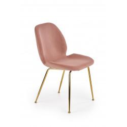 K381 krzesło różowy / złoty - Halmar