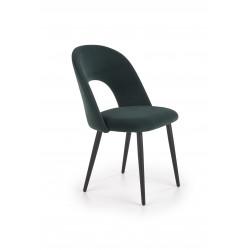 K384 krzesło ciemny zielony / czarny - Halmar