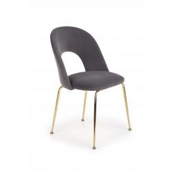K385 krzesło popielaty / złoty - Halmar
