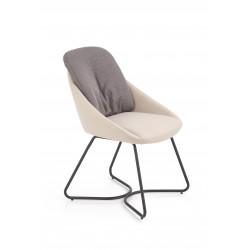 K391 krzesło ciemny popiel / jasny popiel - Halmar