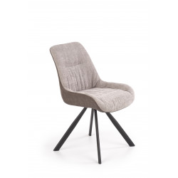 K393 krzesło jasny popielaty / brązowy - Halmar