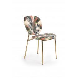 K398 krzesło, tapicerka - wielobarwny, stelaż - złoty - Halmar