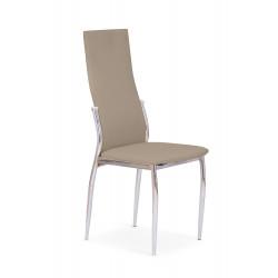 K3 krzesło chrom/cappuccino - Halmar