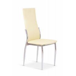 K3 krzesło chrom/waniliowy - Halmar
