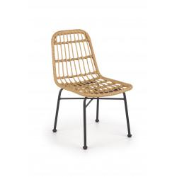 K401 krzesło czarny / naturalny - Halmar