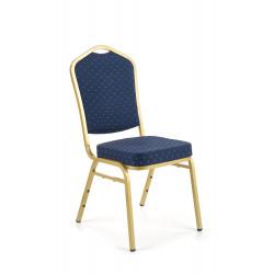 K66 krzesło niebieski, stelaż złoty - Halmar