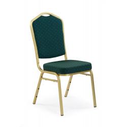 K66 krzesło zielony, stelaż złoty - Halmar