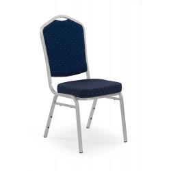 K66S krzesło niebieski, stelaż srebrny - Halmar