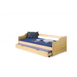 LAURA łóżko sosna - Halmar