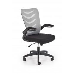 LOVREN fotel pracowniczy popielaty / czarny - Halmar