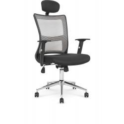 NEON fotel pracowniczy czarno-jasny szary - Halmar