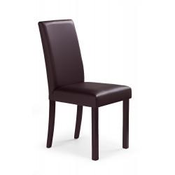 NIKKO krzesło ciemny orzech/ciemny brąz - Halmar