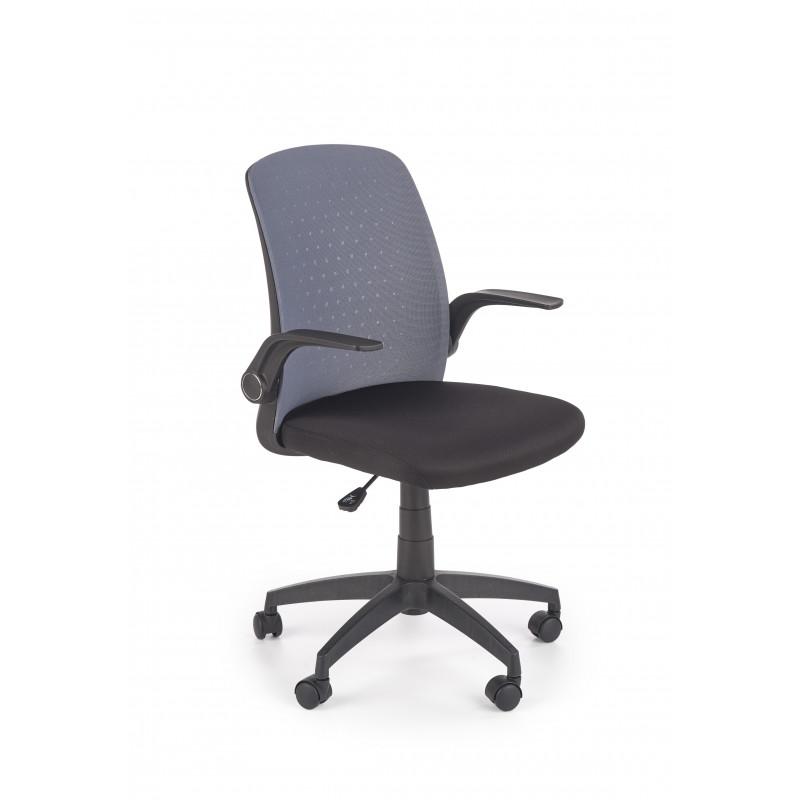 SECRET fotel pracowniczny czarny / popielaty - Halmar