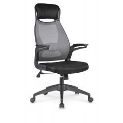 SOLARIS fotel pracowniczy czarno-popielaty - Halmar