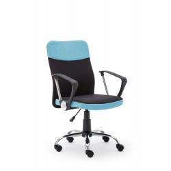 TOPIC fotel pracowniczy czarno - niebieski - Halmar