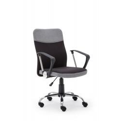 TOPIC fotel pracowniczy czarno - popielaty - Halmar
