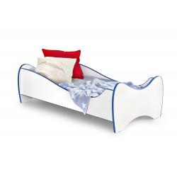 DUO łóżko biało / niebieski - Halmar