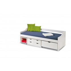 FLORO 2 łóżko białe (5p1szt) - Halmar