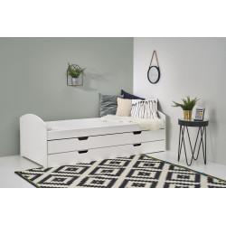 LAGUNA 2 łóżko białe (5p1szt) - Halmar
