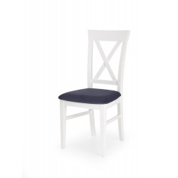 BERGAMO krzesło biało-granatowe - Halmar