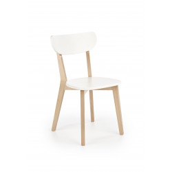 BUGGI krzesło naturalny / biały - Halmar