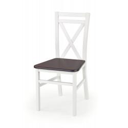 DARIUSZ 2 krzesło biały / ciemny orzech - Halmar