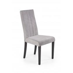 DIEGO 2 krzesło czarny / tap. velvet pikowany Pasy - MONOLITH 85 (jasny popiel) - Halmar