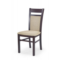 GERARD2 krzesło ciemny orzech / tap: Torent Beige - Halmar
