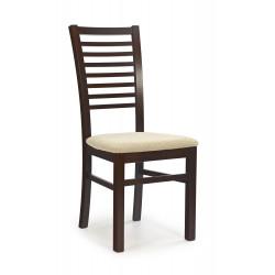 GERARD6 krzesło ciemny orzech / tap: Torent Beige - Halmar