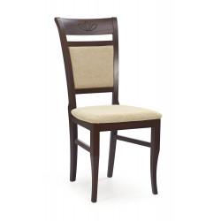 JAKUB krzesło ciemny orzech / tap: Torent Beige - Halmar