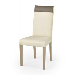 NORBERT krzesło dąb sonoma / tap: kremowy - Halmar