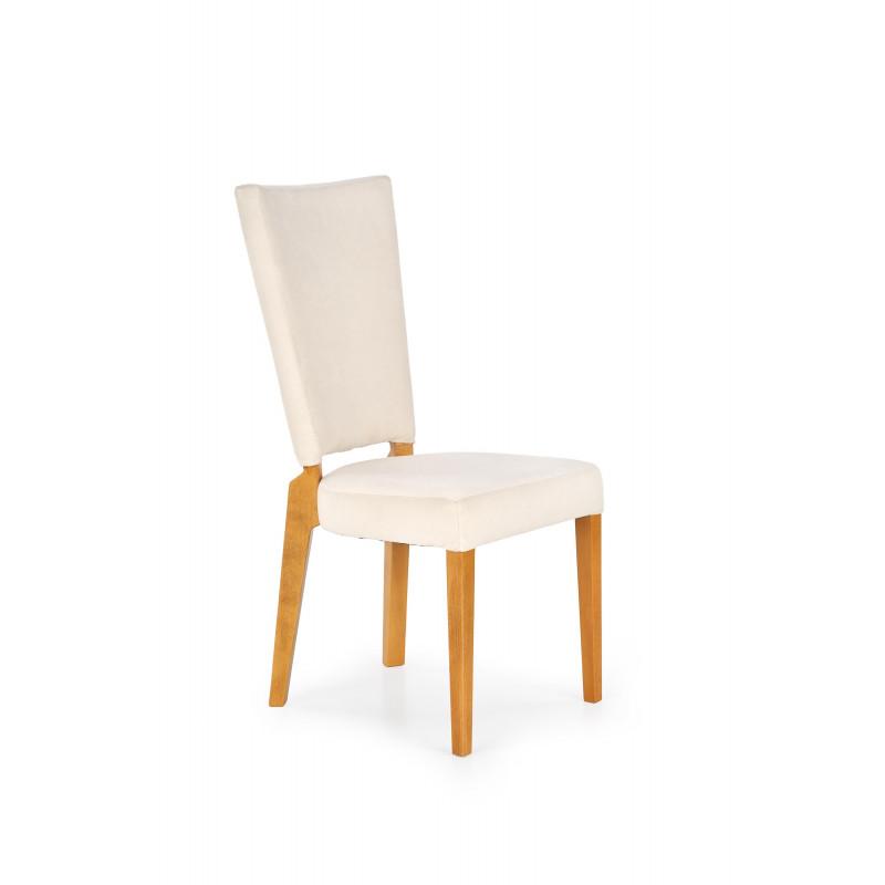 ROIS krzesło dąb miodowy / kremowy - Halmar