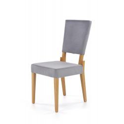 SORBUS krzesło, tapicerka - popielaty, nogi - dąb miodowy - Halmar