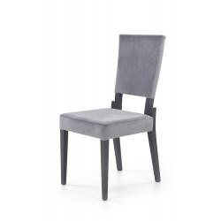 SORBUS krzesło, tapicerka - popielaty, nogi - grafitowe - Halmar