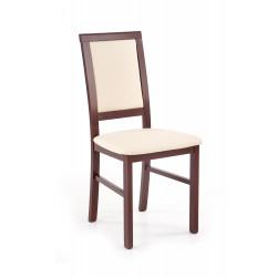 SYLWEK1 BIS krzesło ciemny orzech / CAYENNE 1112 - Halmar