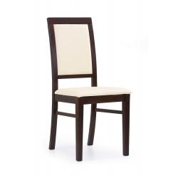 SYLWEK1 krzesło ciemny orzech, ecoskóra /CAYENNE1112 - Halmar