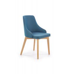 TOLEDO krzesło dąb miodowy / tap. Inari 87 (turkusowy) - Halmar