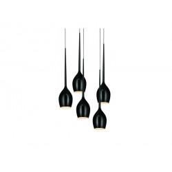 Izza 5 MD1288A-5BL shiny black - lampa czarna Azzardo