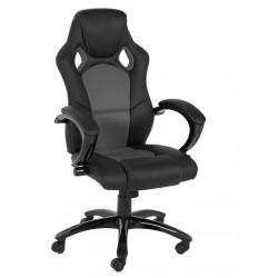 Fotel biurowy Speedy szary czarna eko sk óra