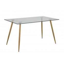Stół Wilma transparentny 140x80
