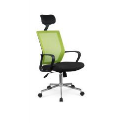 ACAPULCO fotel pracowniczy czarny / zielony - Halmar