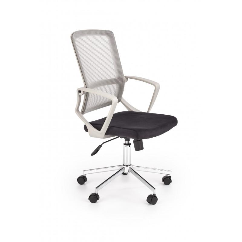 FLICKER fotel pracowniczny z funkcją popielaty / czarny - Halmar