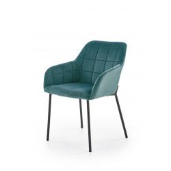 K305 krzesło czarny / ciemny zielony - Halmar