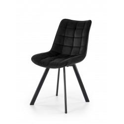 K332 krzesło nogi - czarne, siedzisko - czarny - Halmar