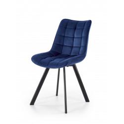 K332 krzesło nogi - czarne, siedzisko - granatowy - Halmar