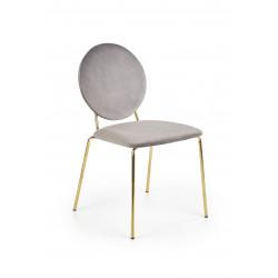 K363 krzesło, tapicerka -  popielaty, nogi - złoty - Halmar