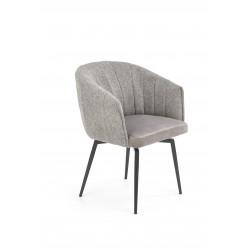 K378 krzesło z funkcją obracania popielaty - Halmar