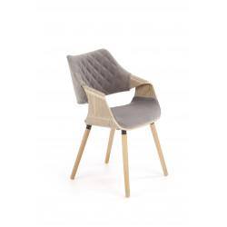K396 krzesło jasny dąb / popielaty - Halmar