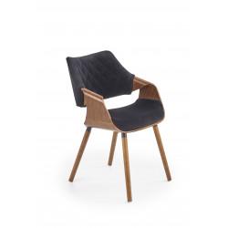 K396 krzesło orzechowy / czarny - Halmar